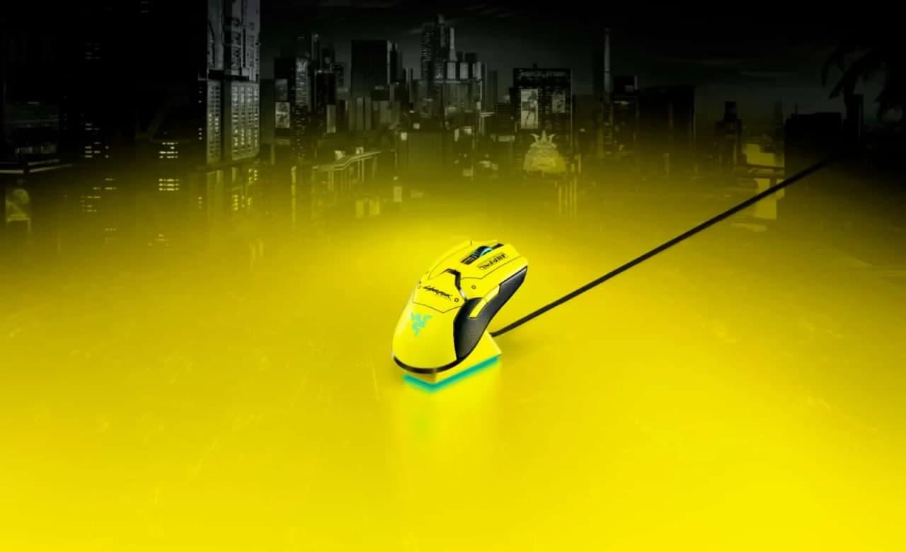 想象你的新赛博朋克2077鼠标在夜之城的雷泽