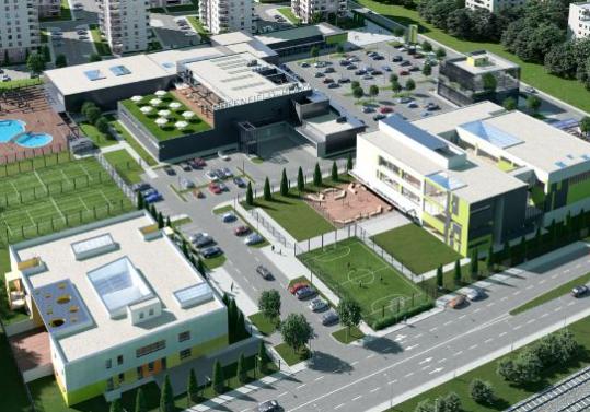 Impact开发人员和承包商开始在布加勒斯特格林菲尔德广场上施工