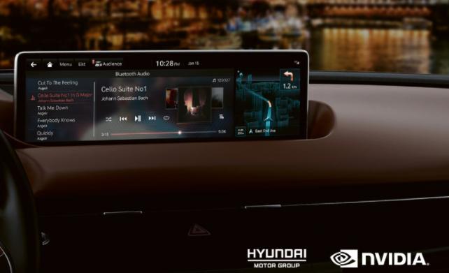 现代汽车集团未来的车型将使用NVIDIA Drive信息娱乐系统