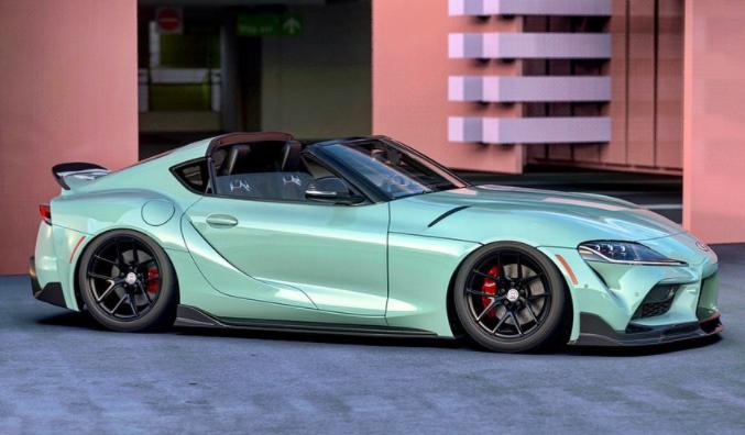"""这就是丰田GR Supra Targa的概念图,您也可以称其为"""" Sport Top"""""""
