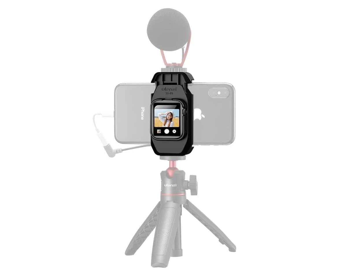 通过这种奇怪的安装方式,Apple Watch成为iPhone取景器