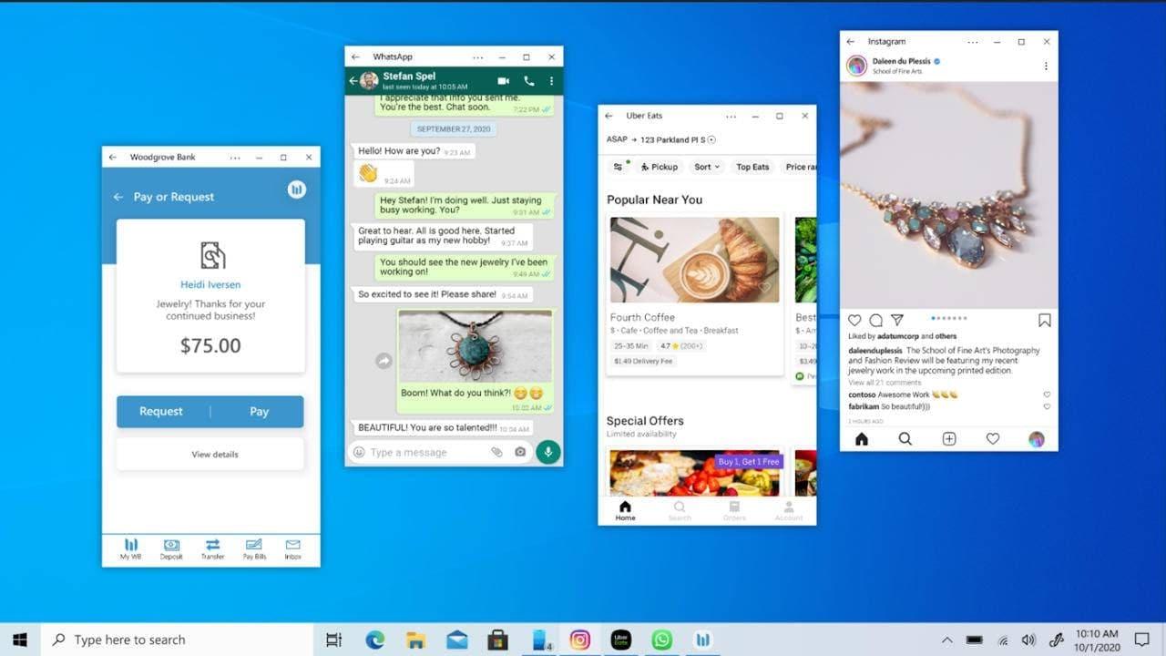 传微软项目拿铁计划将Android应用引入Windows