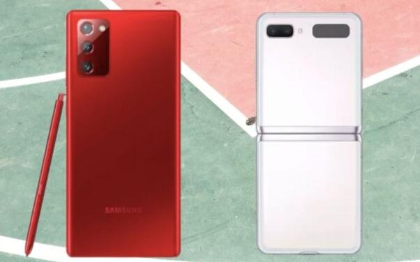 三星Note 20和Z Flip 5G的新颜色:红色和白色