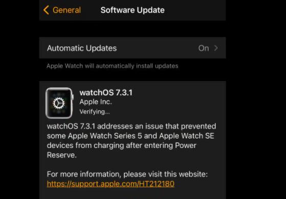 苹果通过推出watchOS  7.3.1修复了Watch  Series  5,SE电池问题