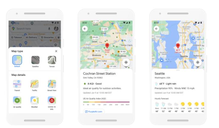Google Maps的新功能包括室内路线,环保路线等