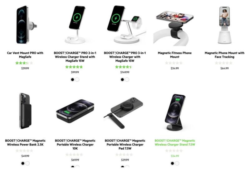 Belkin发布了六款与MagSafe兼容的新iPhone 12配件