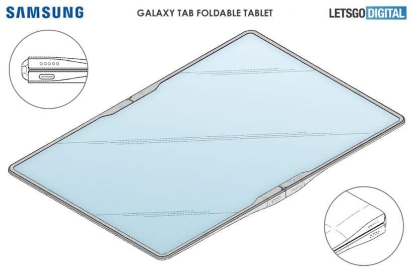 Galaxy  Z  Fold  Tab可能成为明年三星的三折平板电脑