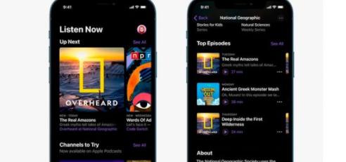 苹果播客获得新设计和订阅支持