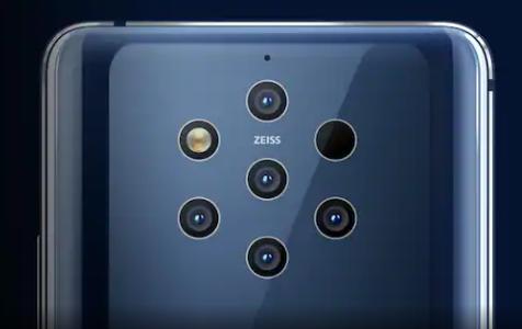 诺基亚研究具有108兆像素Penta后置摄像头的5G智能手机