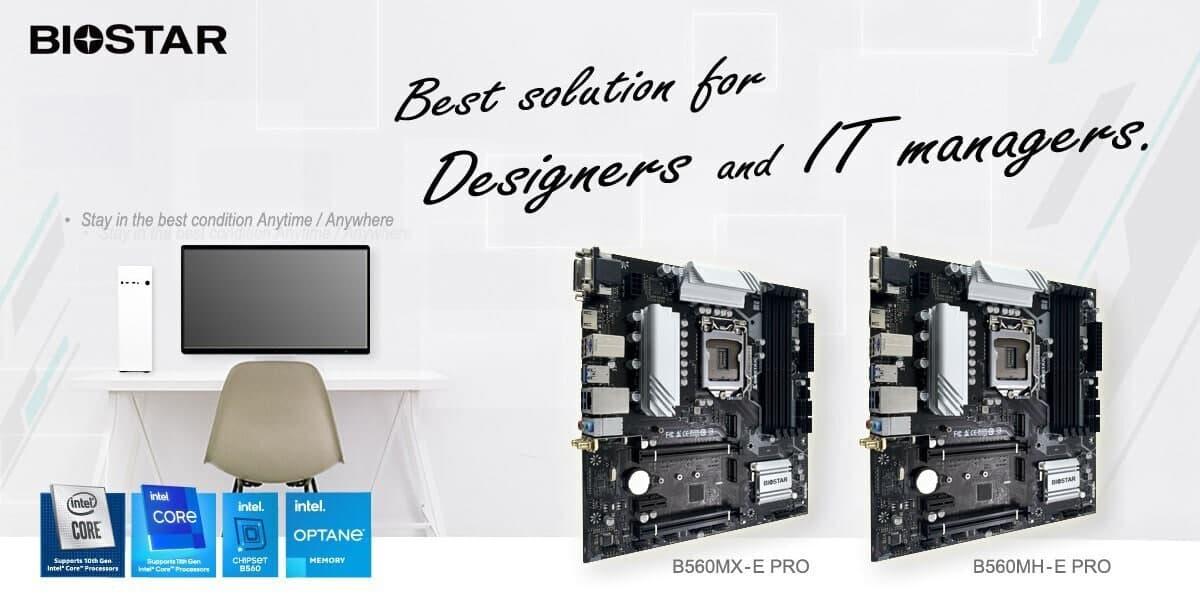 Biostar推出B560MX-E PRO和B560MH-E PRO主板:PCIe 4.0接口,内置二合一网卡