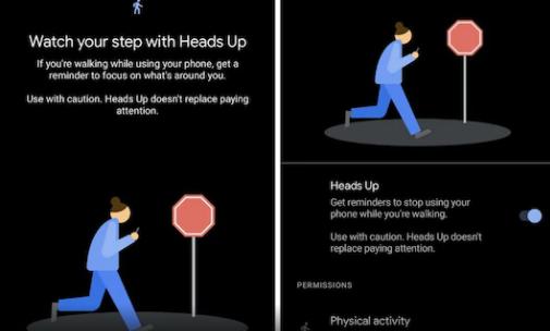 Google测试了抬头功能,提醒您在走路时使用手机时要抬头