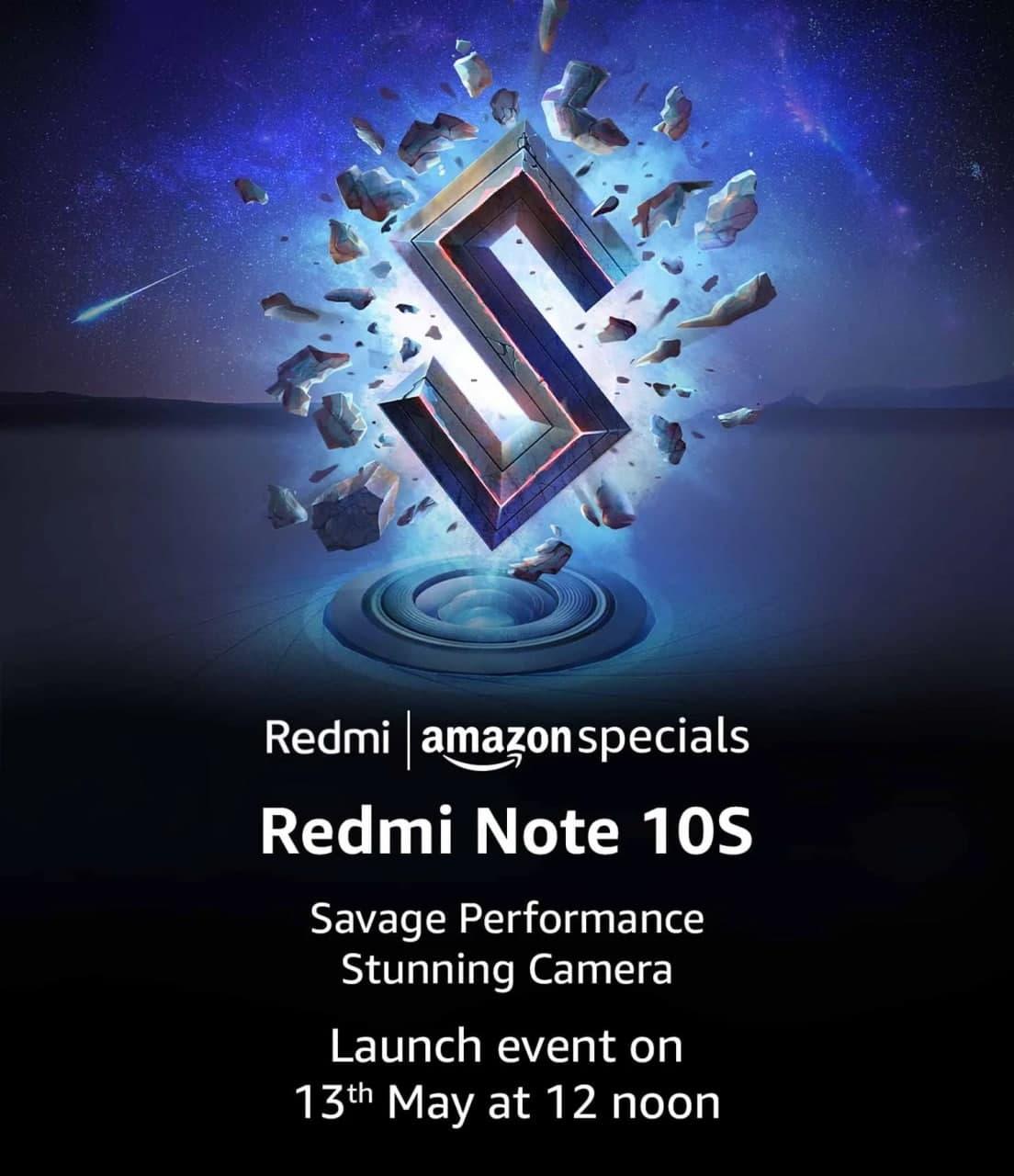 Redmi Note 10S印度发布日期,预期价格,规格