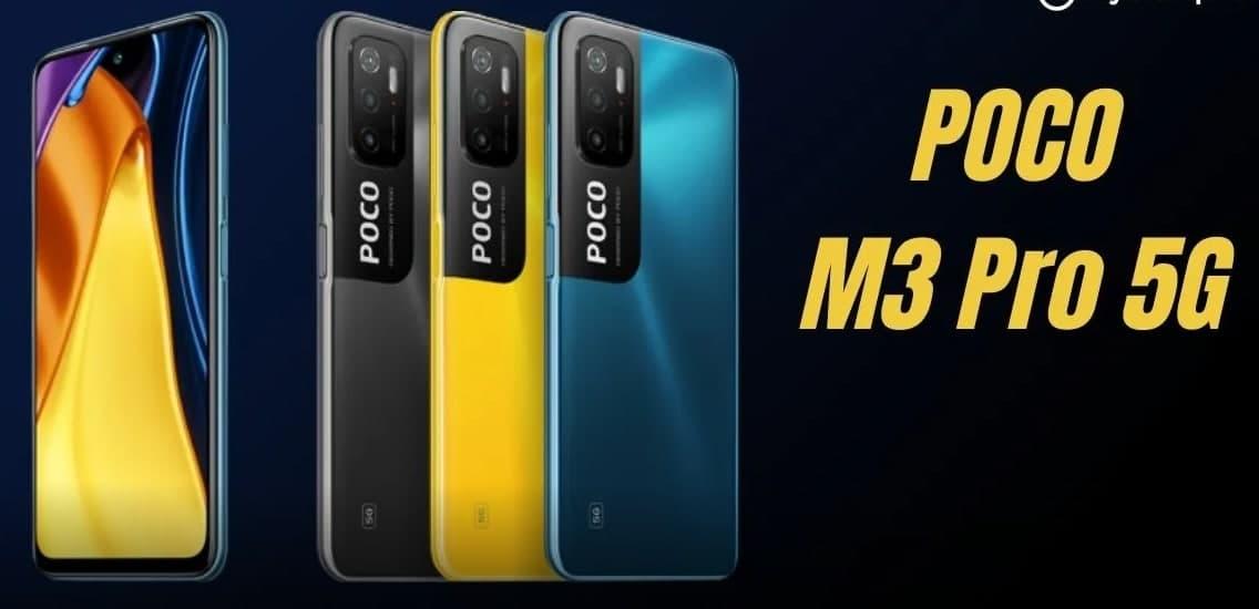 POCO M3 Pro 5G设计使用三合一摄像头,一个侧面安装的指纹扫描仪,并在全新渲染器中显示更多功能