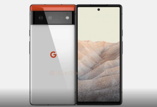 Google Pixel 6渲染图片:平面显示器,后置双摄像头