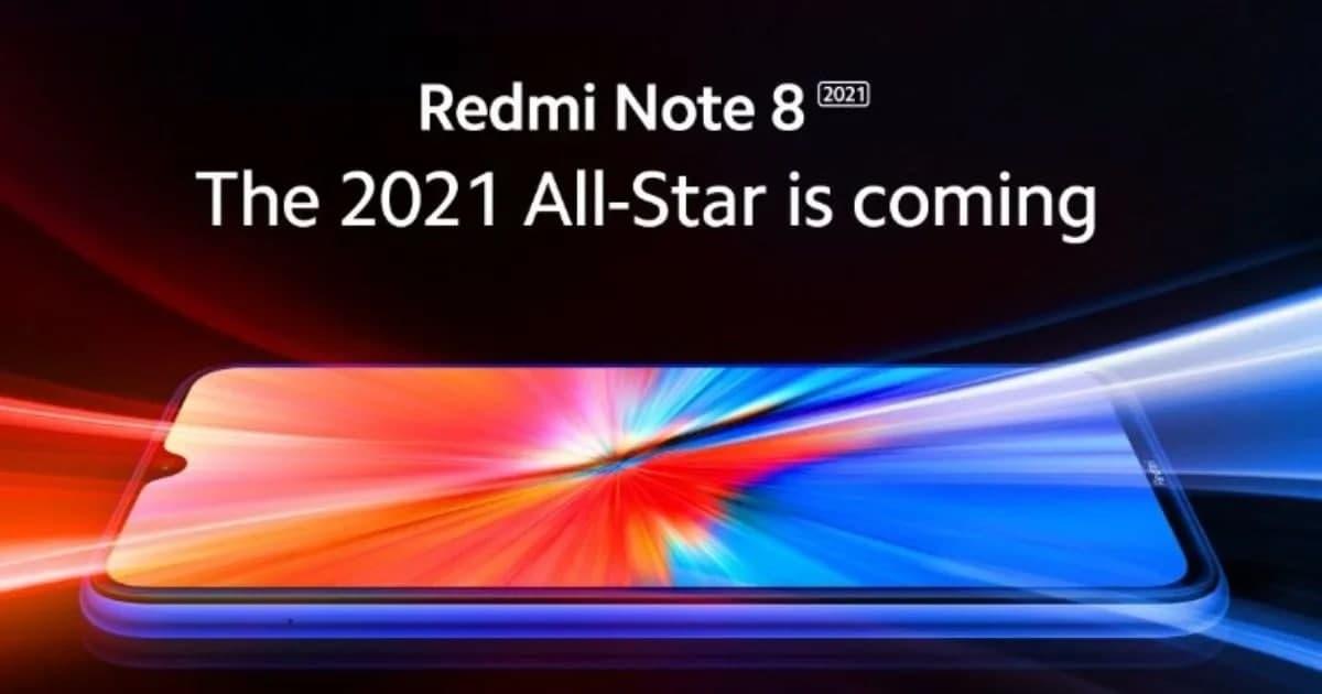小米展示了Redmi  Note  8 2021,官方海报上有一些刻痕