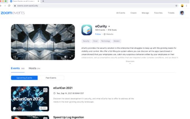 Zoom宣布举办虚拟活动的新平台