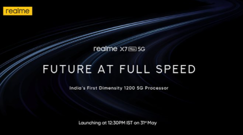 Realme推出新的X7 Max 5G手机和4K智能电视