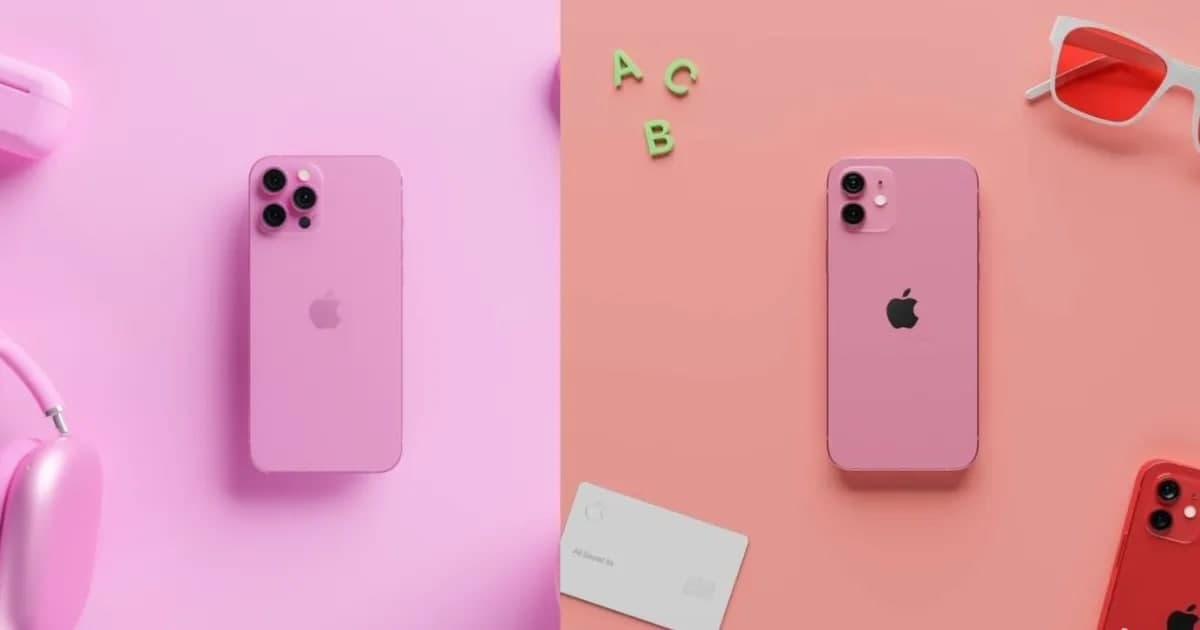 iPhone  13系列预计将采用新的玫瑰红,这是艺术家的设计渲染。