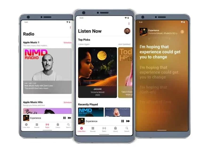 适用于Android的Apple Music 添加了空间音频和高分辨率无损流媒体