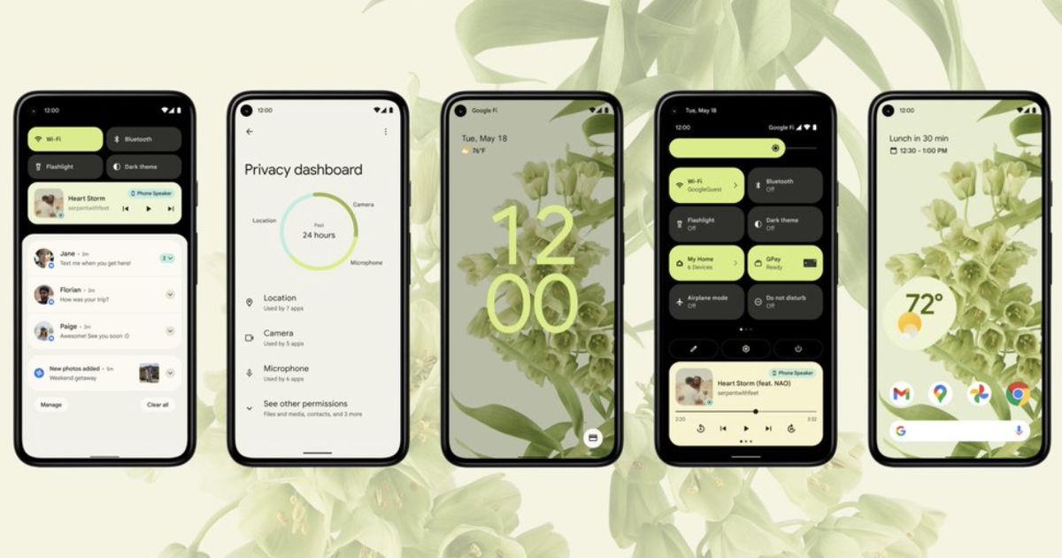 Android 12 稳定版可能会从 10 月 4 日开始推出