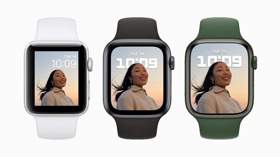 全新 Apple Watch Series 7 拥有更精致的设计