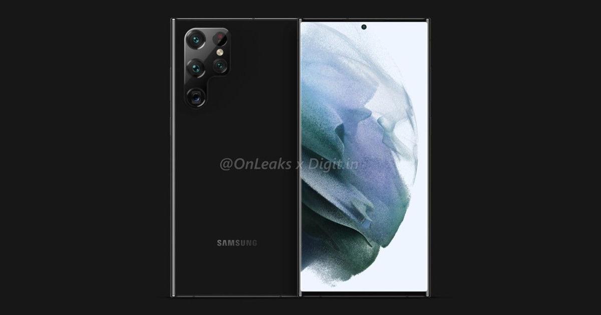 三星 Galaxy S22 Ultra 设计渲染泄漏揭示 S Pen 支持