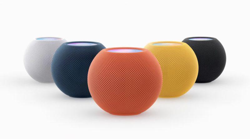 苹果推出新的 HomePod mini 颜色
