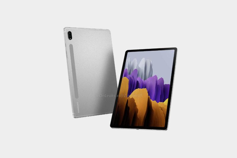 泄露的渲染图揭示了三星 Galaxy Tab S8 系列的外观